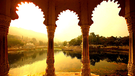 15 Jan 2009, Udaipur, India --- Reservoir seen from a porch in the southern part of Udaipur --- Image by © Atlantide Phototravel/Corbis